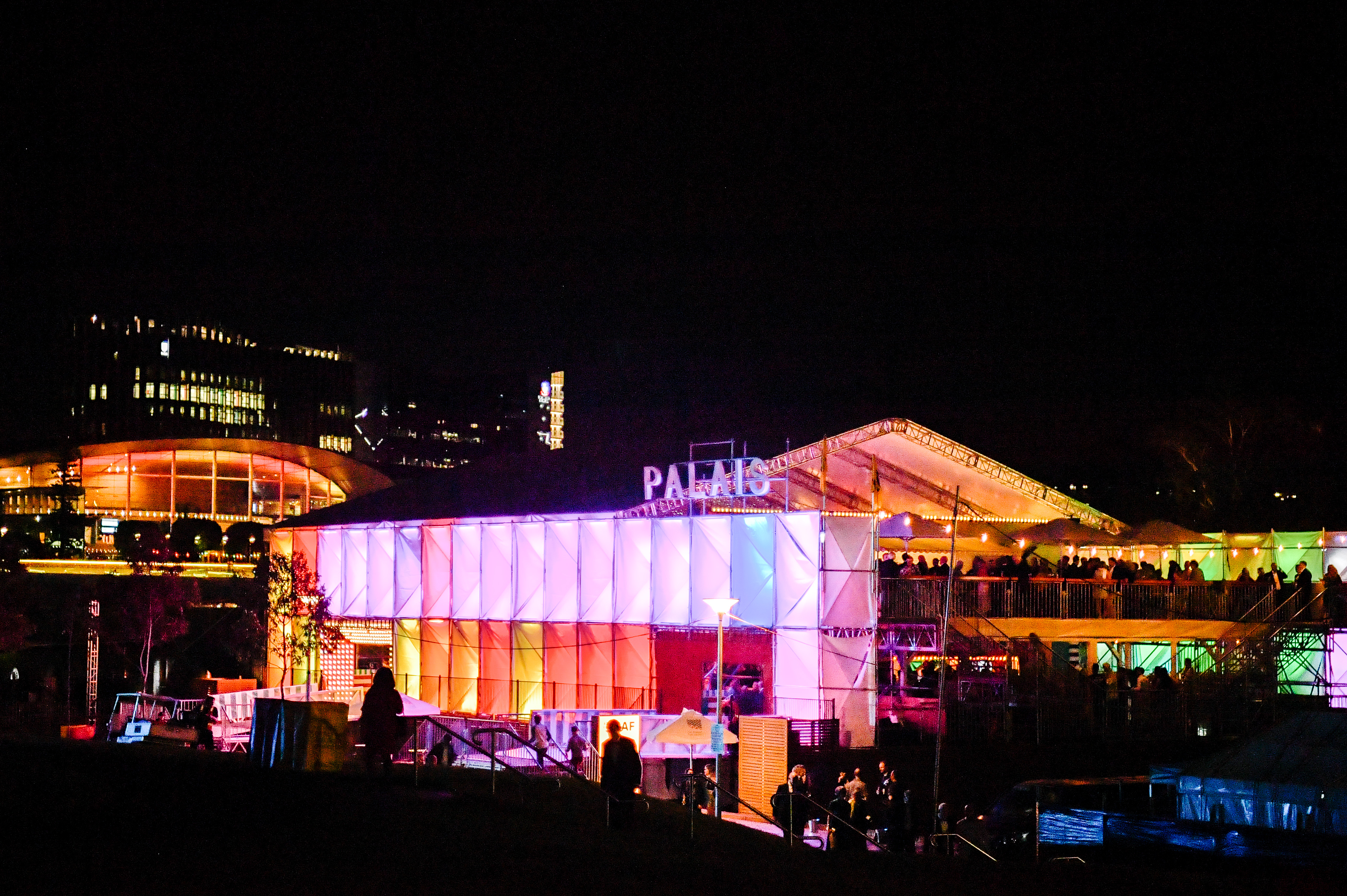 The Palais at night