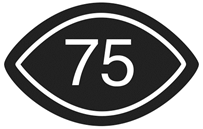 Visual Content rated 75 symbol