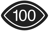Visual Content rated 100 symbol