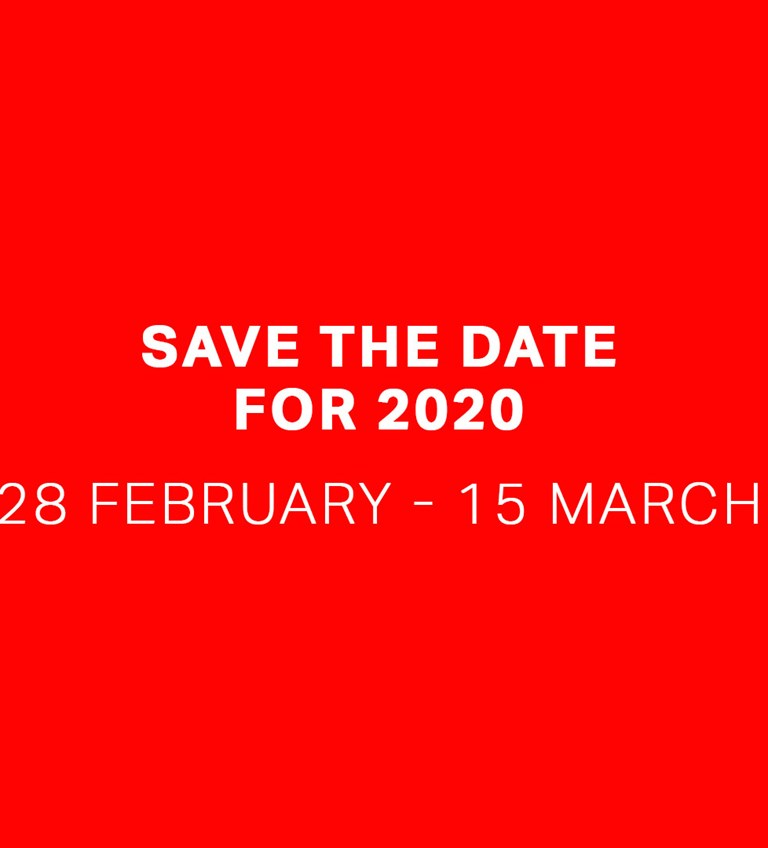 Save the date for 2020: 28 February - 15 March